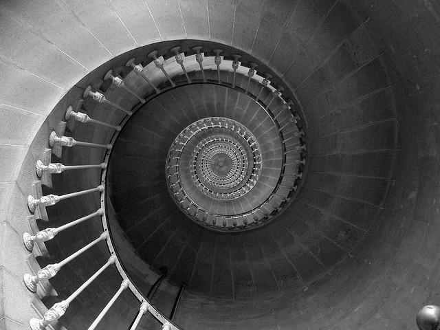Downward Spiral Staircase Photo